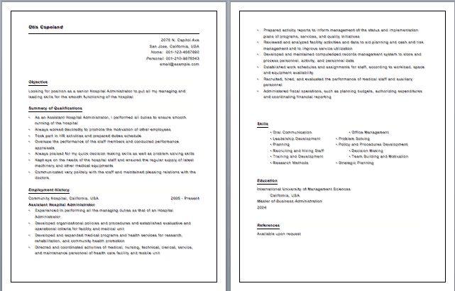 Paramedic Resume Template Emt