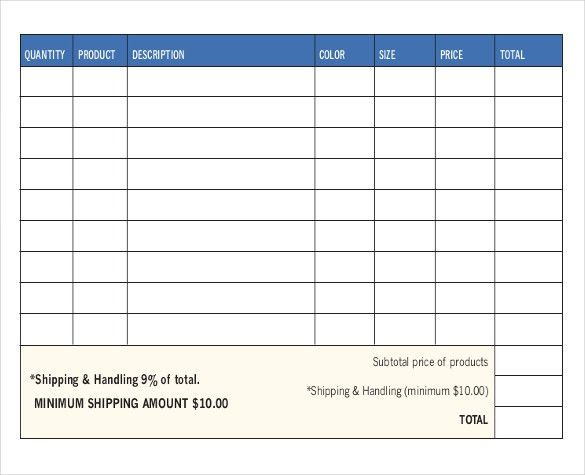 Product Order Form Template Free 40 Best Order Form Images On - sample sale order template