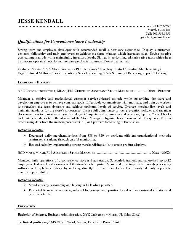 Sample Grocery Store Manager Resume Resume Samples