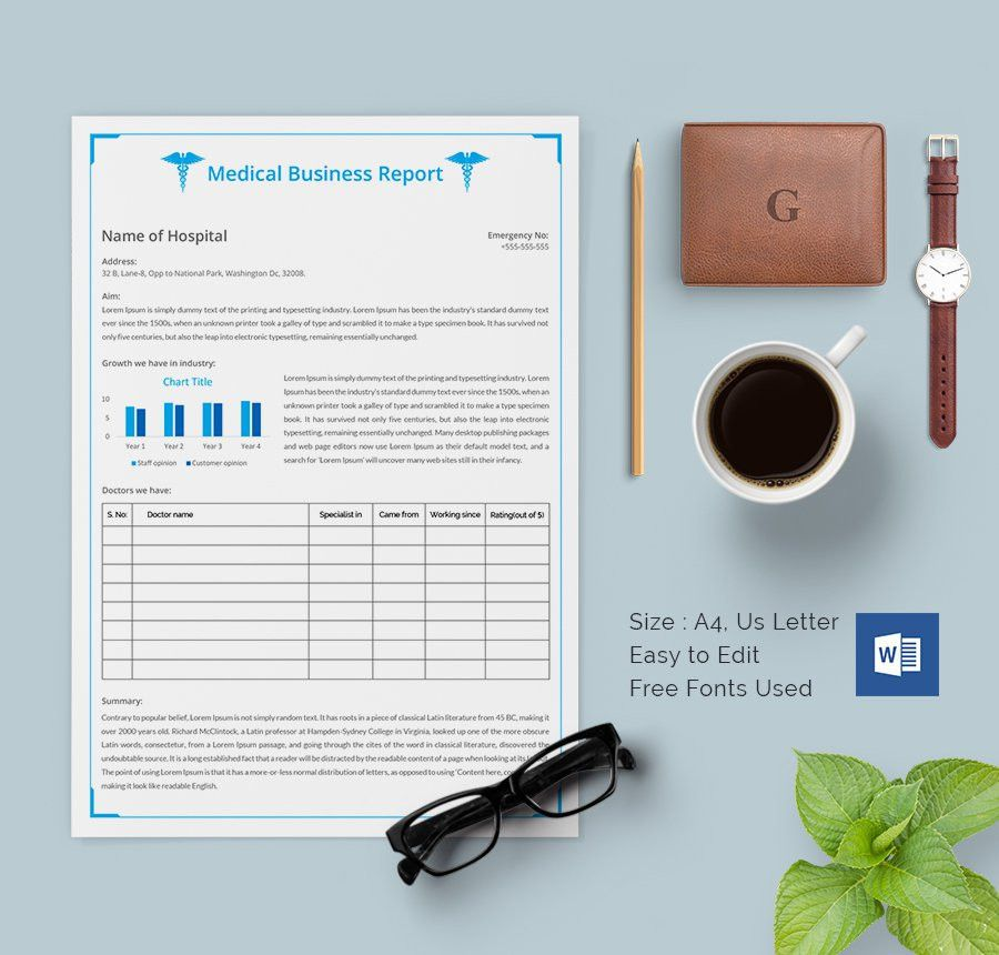 Report Templates Papers And Reports Officecom, 8 Business Report - company report template