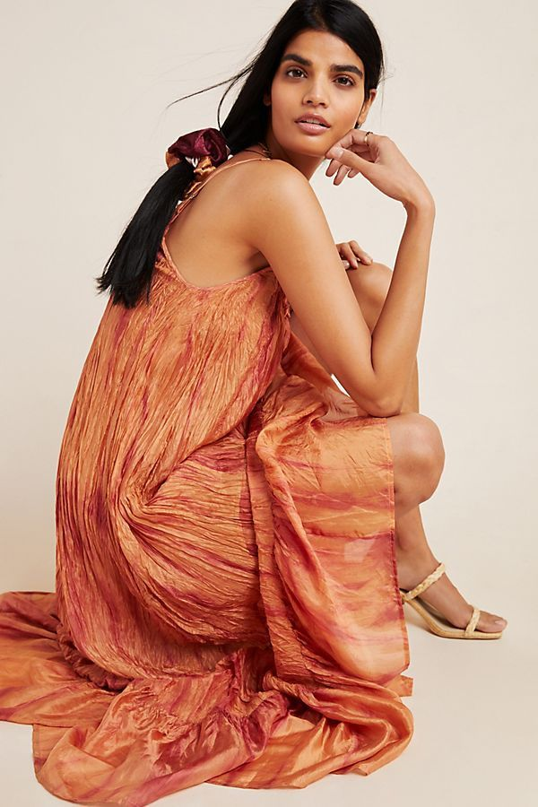 Faustine Crushed Silk Maxi Dress