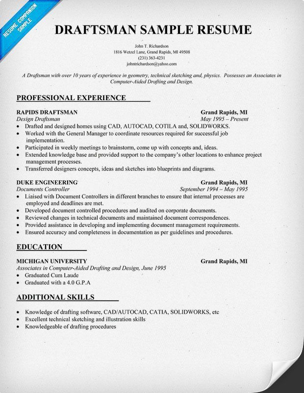 draftsman resume sample 7 draftsman resume templates free word cad drafter resume