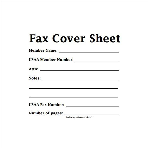 print free fax cover sheet