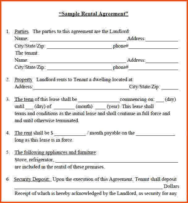 Free House Rental Agreement 8 Room Rental Agreement Templates - booth rental agreement