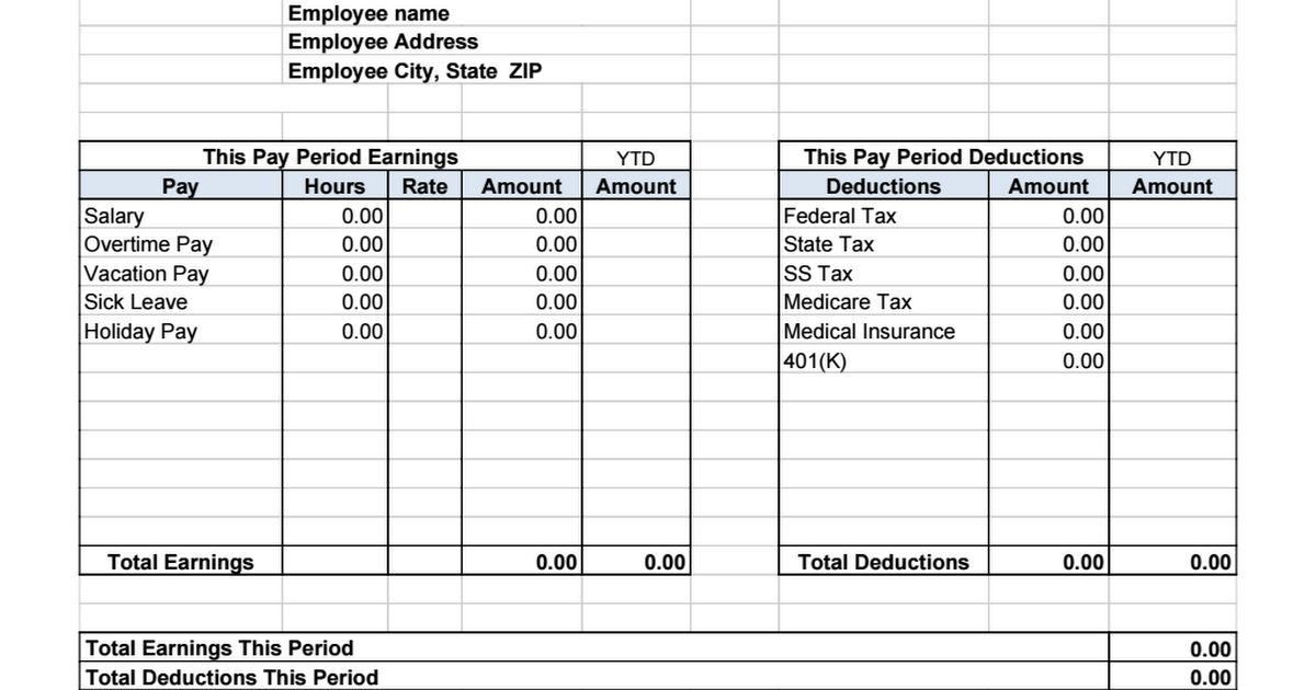 ... Standard Payslip Template Salary Slip Format Free Template   Payslip  Template Download ...  Payslip Template Free