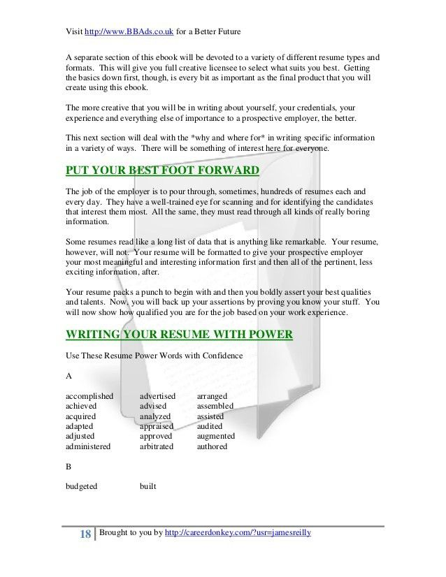 Resume Writing Words] 20 Powerful Words To Use In A Resume Imgur .