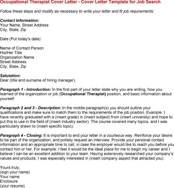 Psychiatric Occupational Therapist Cover Letter  NodeCvresume