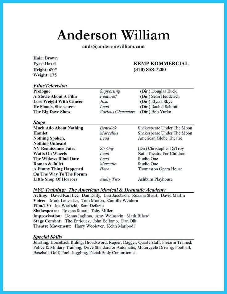 actors resume sles high school actor resume template 28 images