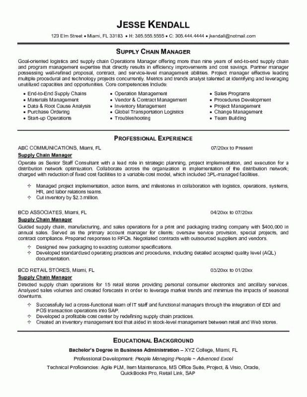 Supply Chain Resume Objective Clinical Research Coordinator - clinical research resume