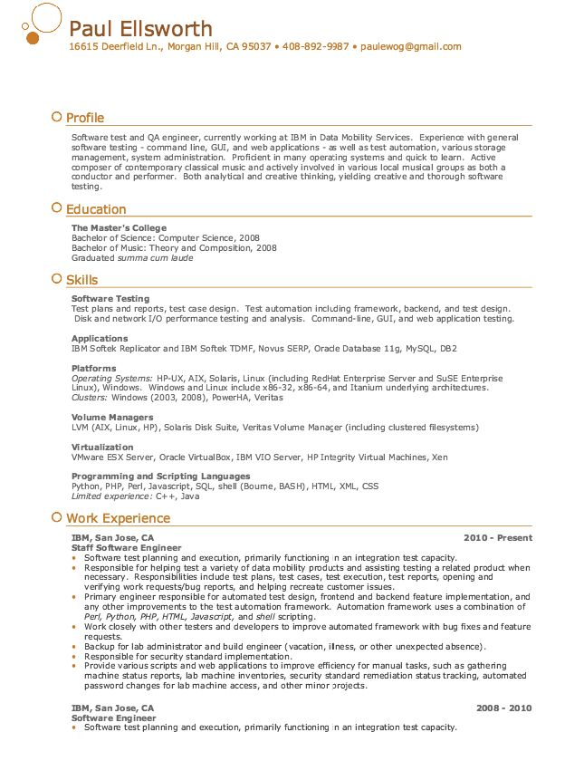 Qa Engineer Resume Sample Quality Assurance Engineer Resume