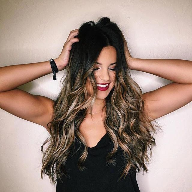 Beautiful Balayage : Dark Hair : Sombre : Ombre : Perfect Hair : Hair goal : Long Hair : Waves : Perfect #blackombrehair