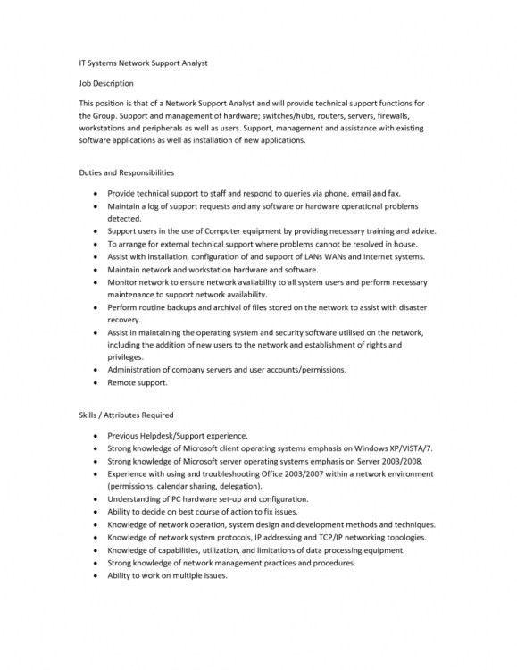 Duties Of It Support Sales Support Job Description, Fm 6 20 50 - research analyst job description