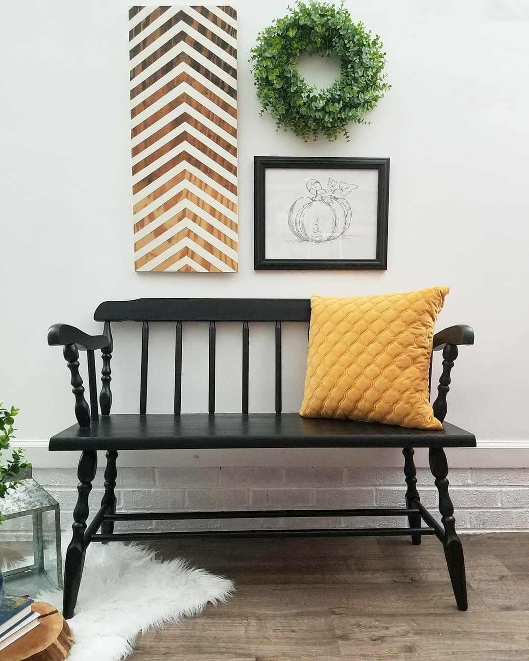 Black deacons bench. (With images) | Deacons bench, Decor ...