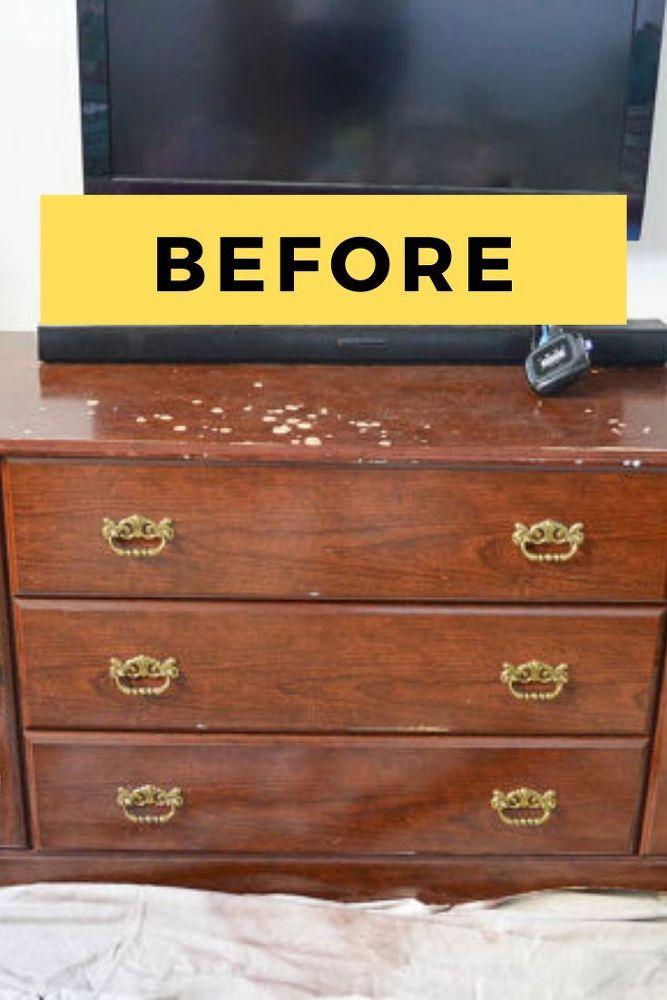 DIY Upcycled Dresser Makeover Idea