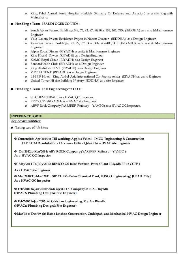 hvac engineer sample resume   resume-template.paasprovider.com