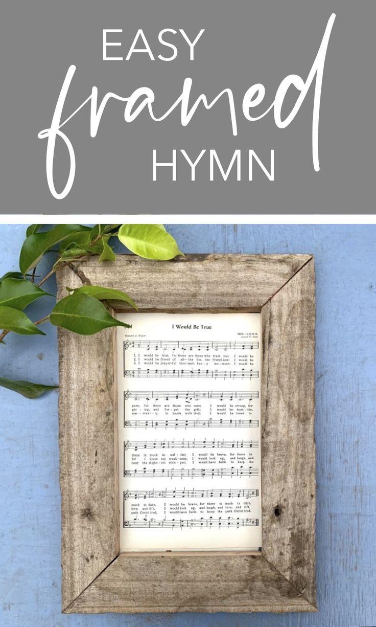 Easy Pallet Framed Hymn Farmhouse Decor - Six Clever Sisters