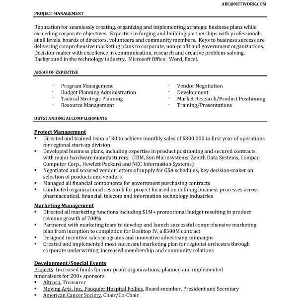 Resume Example Project Manager Unforgettable Technical Project - construction project manager resume examples