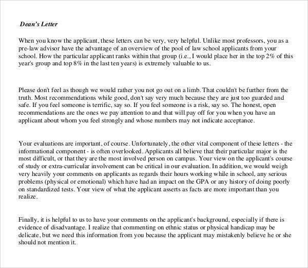 Dental Letters Of Recommendation Letter Of Recommendation For - law school recommendation letter sample