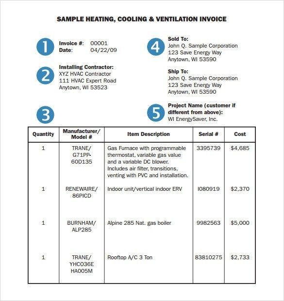 Service Invoice Sample Free Service Invoice Template For - sample service invoice