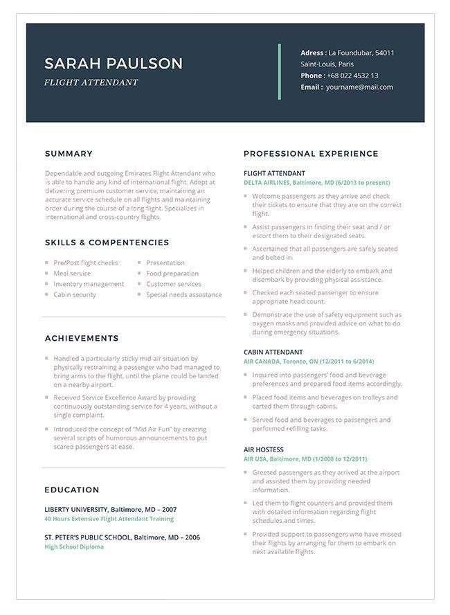 Resume Flight Attendant resume for flight attendant lukex flight - sample flight attendant resume