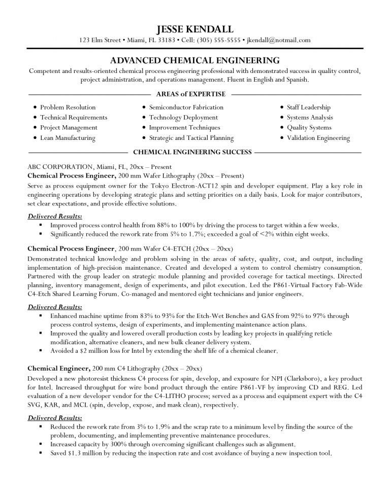 Process Engineer Sample Resume] Download It Process Engineer ...