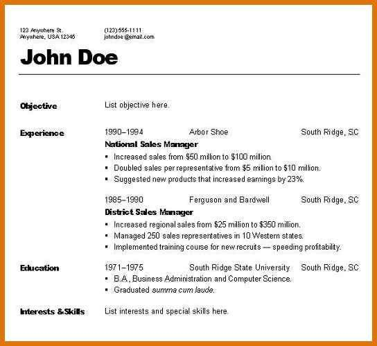 Different Types Of Resume Format Different Resume Formats 1 - types of resume formats