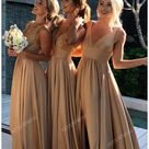 champagne bridesmaid dresses groomsmen
