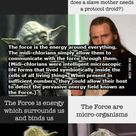 I am not a big nerd of Star Wars. This just my answers as a fan to the post about Random Plot Holes. I apologize if I made any mistake.