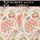 AZTEC FLOWERS-CORAL REEF by ROBERT ALLEN - COLOR LIBRARY - UPH - Sample