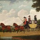 A2 Poster. The Royal Mail Coach, Chelmsford to London, 1799 (oil