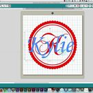 Creating a vinyl monogram for a pail #silhouettetutorials #learnsilhouette