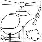 Helicopter color page. Free printable coloring sheets for kids.