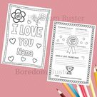 Mother's Day Printable, Happy Birthday NaNa, About My Grandmother, Coloring Sheet for Mom, Keepsake
