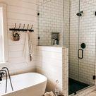 Farmhouse Master Bathroom Renovation | The Yellow Rose Farmhouse