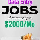 10 Flexible Data Entry Jobs That Make Upto $2000/Month