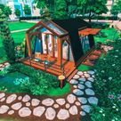 My latest build: A-Frame Eco Tiny Home (no CC) just uploaded to the gallery! Origin ID: goldplumbob