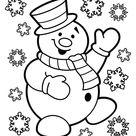 Kleurplaat sneeuwpop. Gratis kleurplaten om te printen