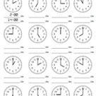 Arbeitsblätter (Kopiervorlagen) Uhrzeit « Arbeitsblätter « .: Volksschullehrerin.at :.