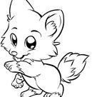 wolf coloring pages for kids   draw baby wolf cute animals coloring black white sketch pencil art