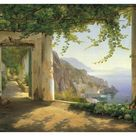 Giclee Painting: Aagaard's View to the Amalfi Coast, 34x50in.