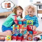 Marble Run Magnetic Tiles Building Blocks Toys (110 PCS)