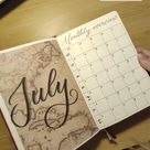 July Bujo Monthly Spread