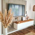 Tv-Wand in Betonoptik! #betondesign #betonoptik #tvw...