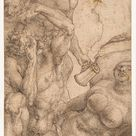 Albrecht Dürer, 1514 - The Insane - fine art print - Canvas print / 50x90cm - 20x35