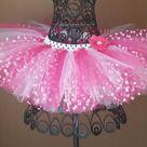 Hot pink hot pink with white polka dots & white tutu, Minnie tutu,tulle, birthday tutu,Newborn Tutu,Infant Tutu, Ballerina, Baby Girl Tutu,