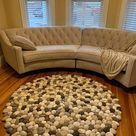 Felt rug floral super soft multicolor flowers
