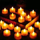 12Pcs Battery Operated LED Tea Lights Candles Flameless  Weeding Decor - 12pcs