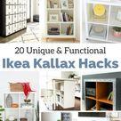 The Best Ikea Kallax DIY's! Love them all. Creative and versatile.