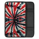 Black And Red Spider Tie Dye Print Car Center Console Cover