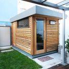 Sauna im Freien im Garten oder auf der Terrasse
